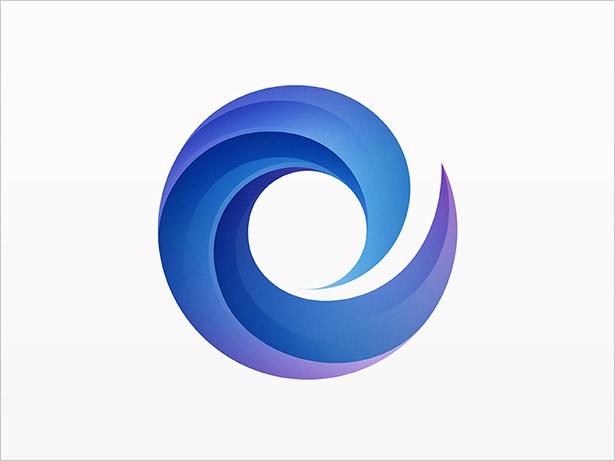 Ombre-O-Letter-Logo-Design