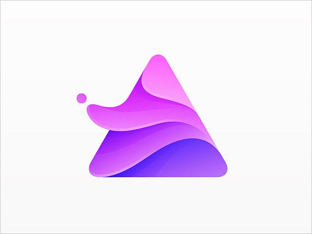 Ombre-Triangle-Logo-Design