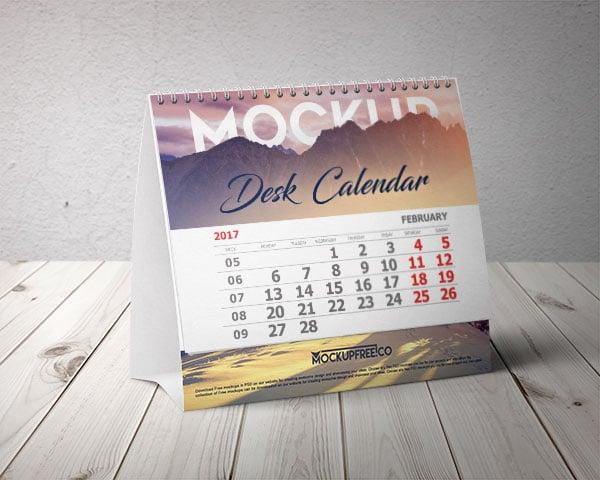 Table Calendar Mockup
