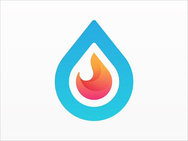 Water-&-Fire-Onbre-Logo-Design