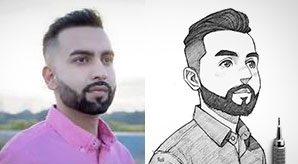 30+ Amazing Sketches of Strangers as Cartoon by Indonesian Artist Rudi