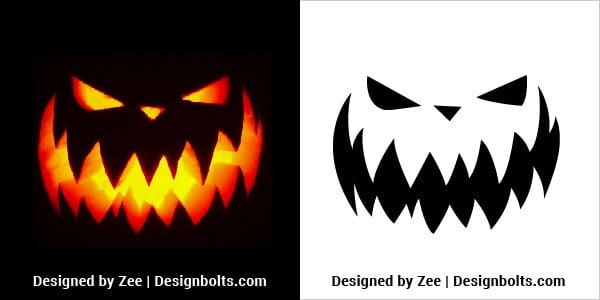 Scariest-Halloween-Pumpkin-Carving-Stencil-2018