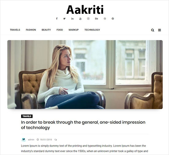 Aakriti-Personal-Blog-beautiful-WordPress-blog-theme-for-blogs-website