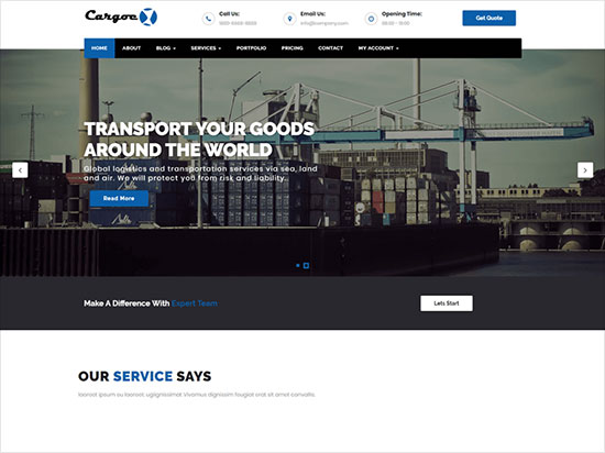 Cargoex-Business-WordPress-theme-ideal-for-a-business-2019