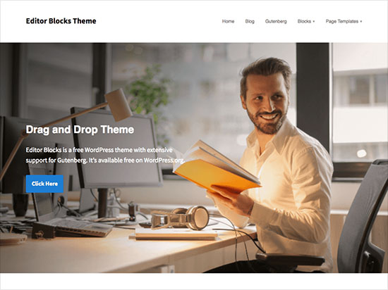 Editor-Blocks-minimal-WordPress-theme-2019