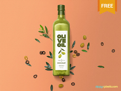 Free-Customizable-Olive-Glass-Bottle-Mockup