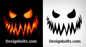Free-Halloween-Pumpkin-Carving-Stencils--Ideas-Faces-Patterns-Printables-2018-F