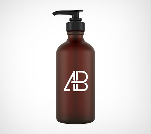 Glass-Cosmetic-Pump-Bottle-Mockup PSD