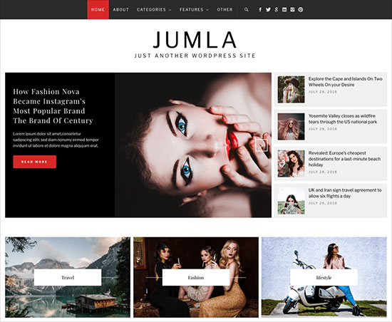 Jumla-minimalist-WordPress-blog-theme