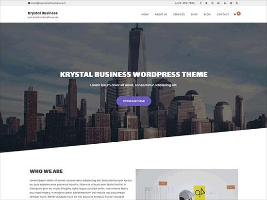 Krystal-Business-multipurpose-business-WordPress-theme-2019