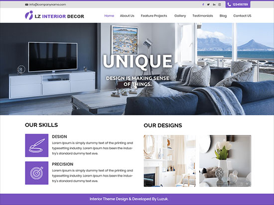LZ-Interior-Decor-stylish,-modern-and-attractive-WordPress-theme-2019