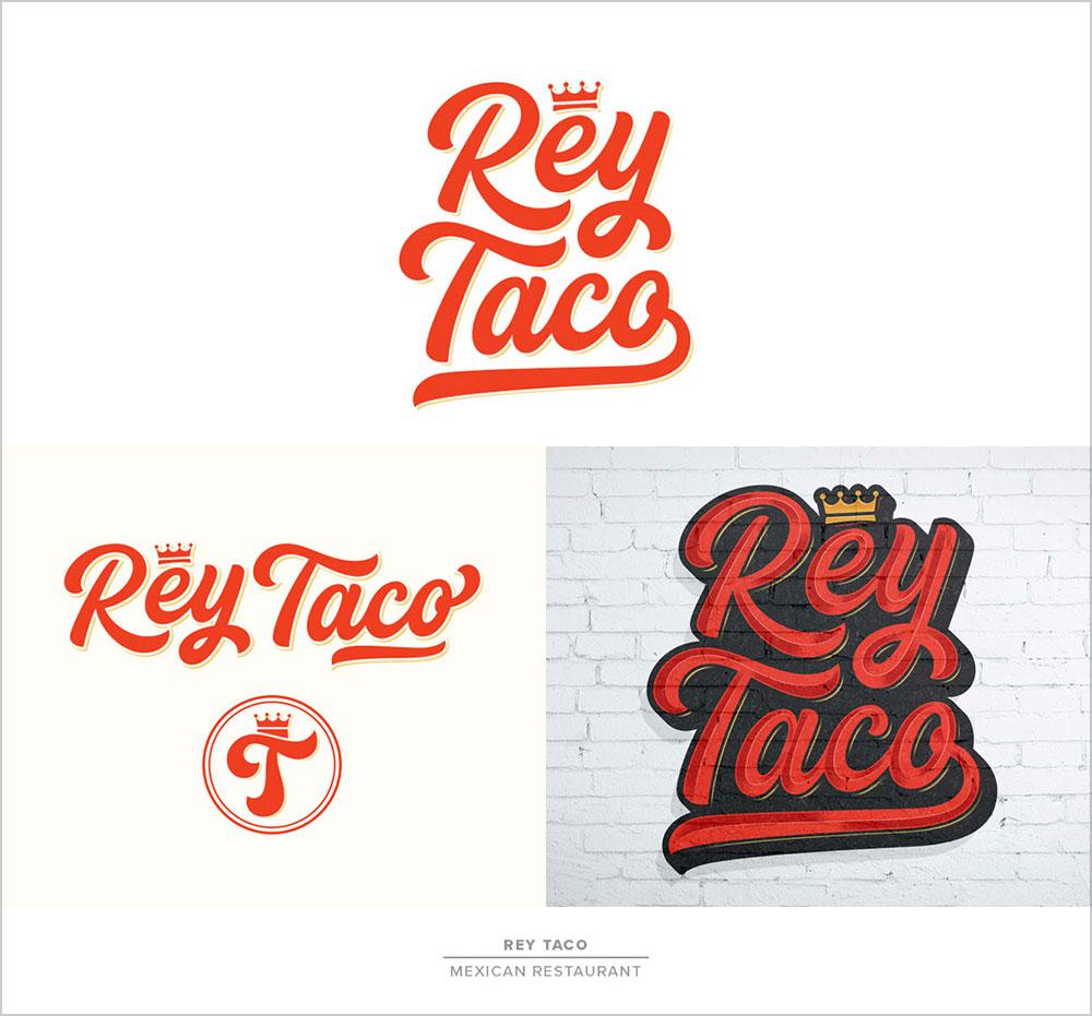 Rey-Taco-Maxican-Restaurant-Logotype
