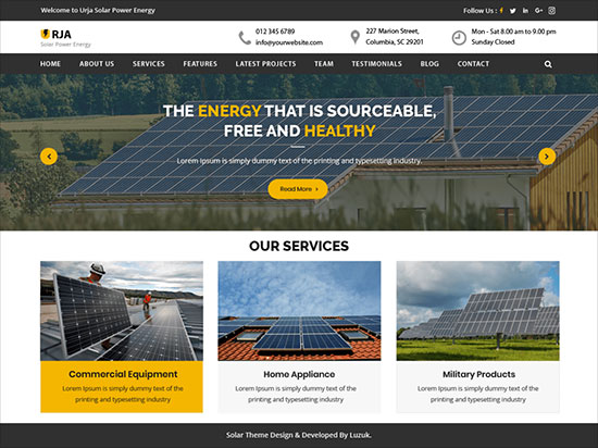Urja-Solar-Energy-energetically-coloured-solar-energy-WordPress-theme-2019