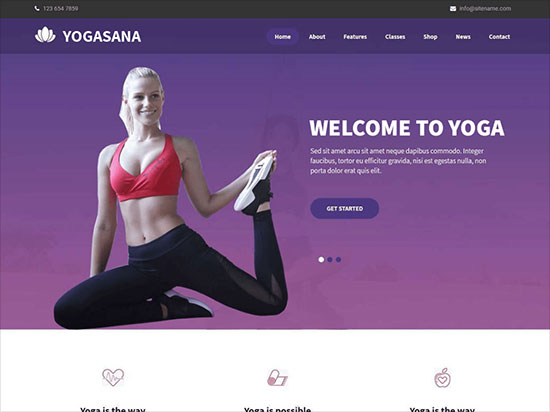 Yogasana-WordPress-theme-simple-and-easy-to-use