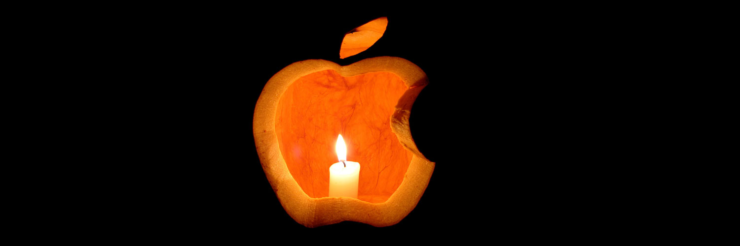 Apple-Logo-Halloween-Pumpkin-Carving Twitter Google Plus Header Banner Cover Photo Image 2018