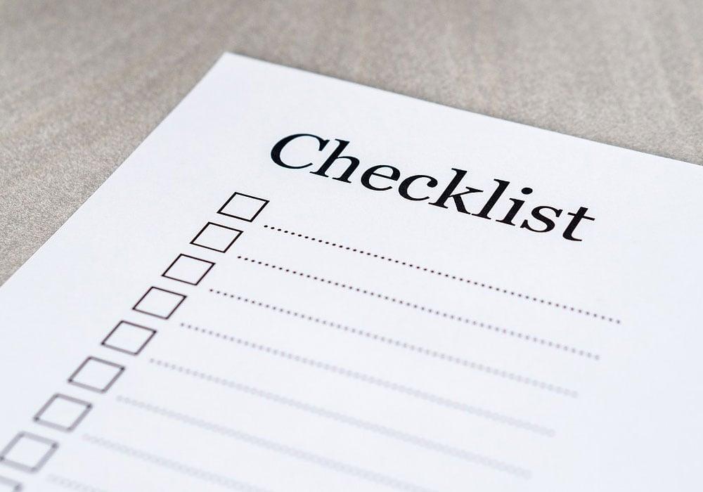 Blank-Checklist