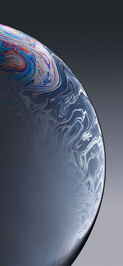 Bubble_Gray-iPhone-XR-Wallpaper-HD-2X