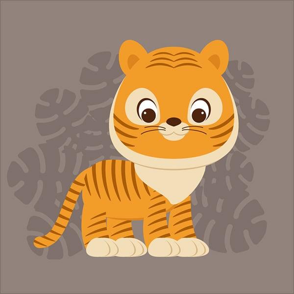 Cute-Cartoon-Tiger-Illustration-in-Adobe-Illustrator