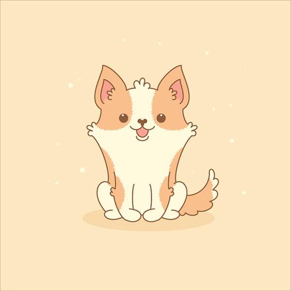 Cute-Welsh-Corgi-in-Adobe-Illustrator