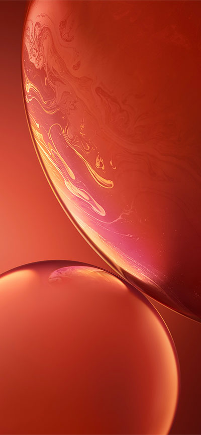 Double-Bubble_Orange-iPhone-XR-Wallpaper-HD-2X