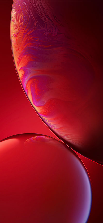 Double-Bubble_Red-iPhone-XR-Wallpaper-HD-2X