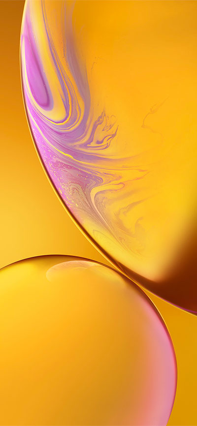 Double-Bubble_Yellow-iPhone-XR-Wallpaper-HD-2X