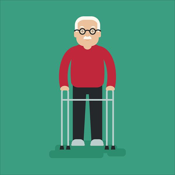 Elderly-Man-Illustration-in-Adobe-Illustrator