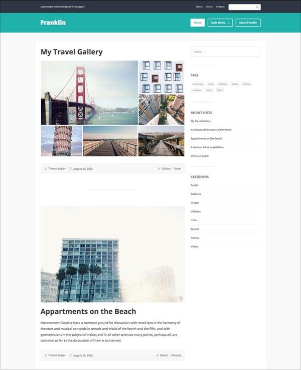 Franklin-lightweight-theme-designed-for-Travel-bloggers