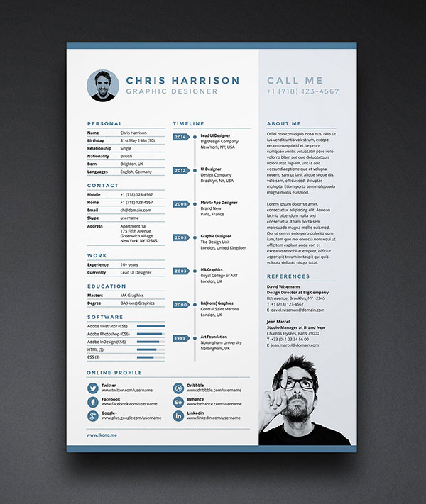 10 free resume   cv template  u0026 cover letter in word   psd