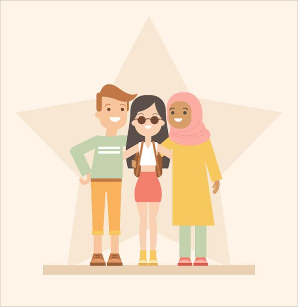 Friends-in-Adobe-Illustrator