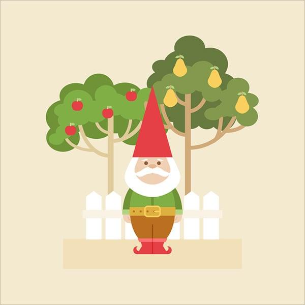 Garden-Gnome-Illustration-in-Adobe-Illustrator
