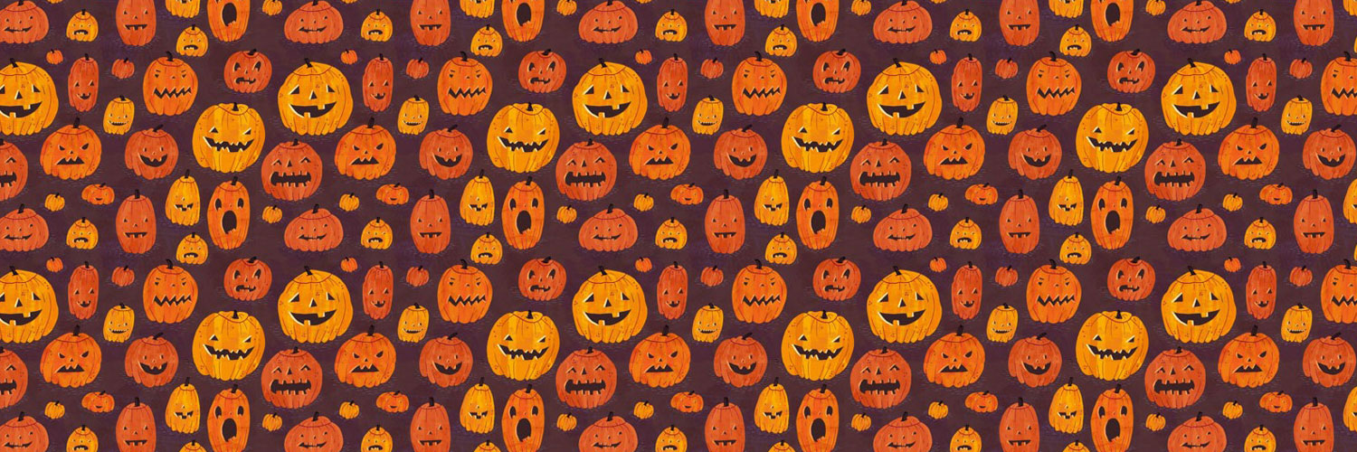 Halloween-Pumpkin-Seamless-Twitter Google Plus Header Banner Cover Photo Image 2018