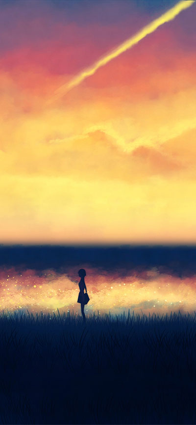 Illustrations_fantasy_art_lonely_Girl_iPHone-Xr-background