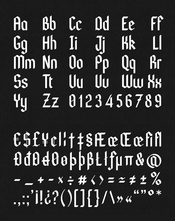 10 Modern Free Parallel Pen Blackletter Fonts for Typographers