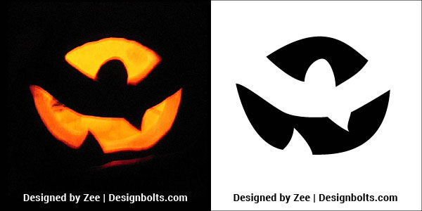 Very easy halloween pumpkin carving stencils ideas