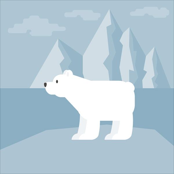 Polar-Bear-Illustration-in-Adobe-Illustrator