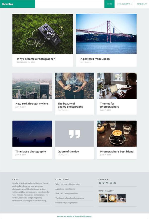 Revelar-single-column-blogging-theme-for-photography