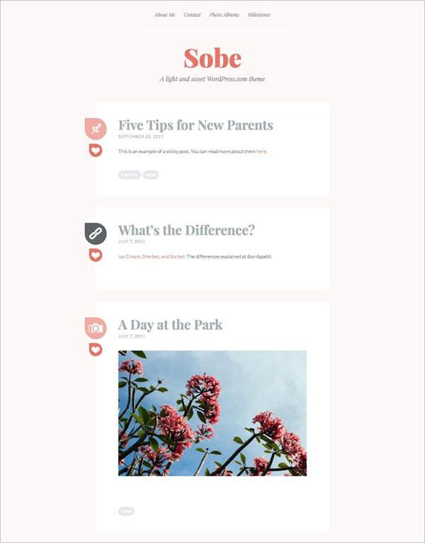 Sobe-lighthearted-personal-blogging-theme-2018