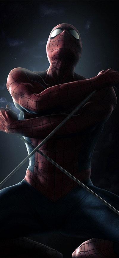Spider_Man_smoke_-iPhone-XR-Wallpaper