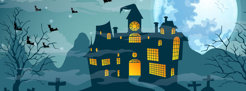 Vector-Halloween-Haunted-House-facebook-cover-photo