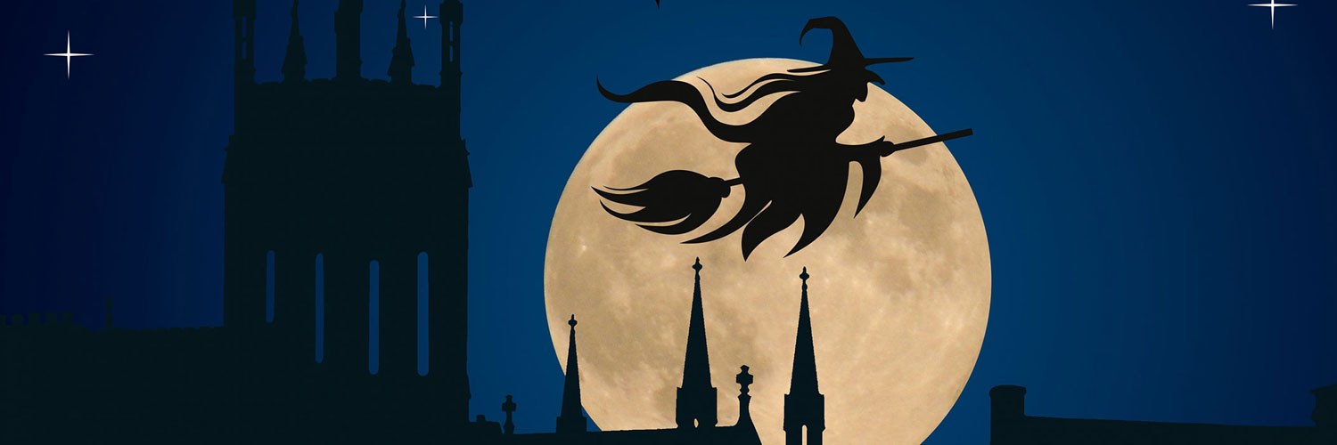 Witch-Flying-Halloween-Twitter Google Plus Header Banner Cover Photo Image 2018