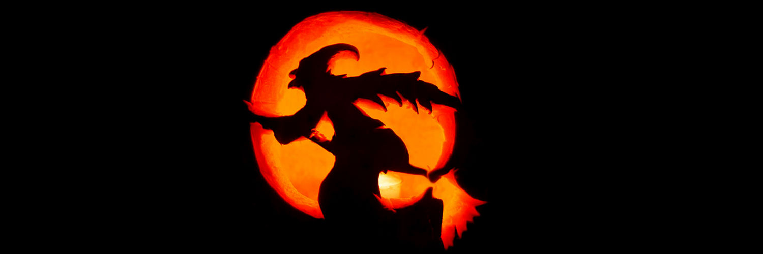 Witch-Halloween-Pumpkin-Carving-Twitter Google Plus Header Banner Cover Photo Image 2018