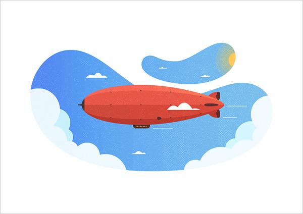 Zeppelin-Illustration-in-Adobe-Illustrator