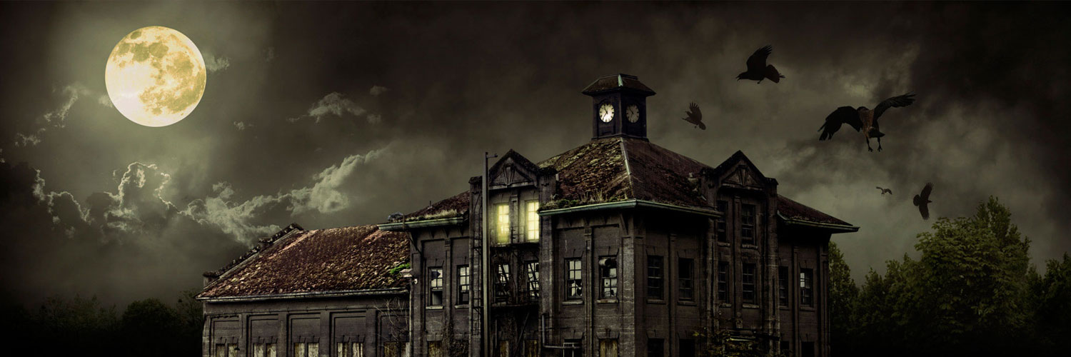 halloween_scary_house Twitter Google Plus Header Banner Cover Photo Image 2018