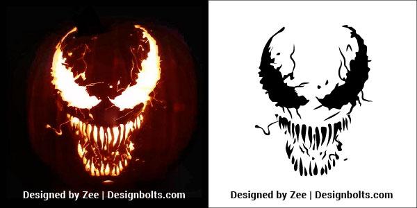 graphic regarding Pumpkin Template Printable Free named 5 Free of charge Elegant Overwhelming Halloween Pumpkin Carving Stencils