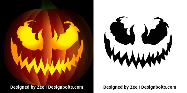 photograph about Pumpkin Outlines Printable known as 5 Venom Pumpkin carving Stencils, Printable Behavior, Tips