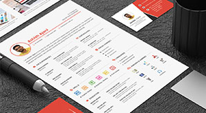 50-Free-Resume--CV-Template-In-Photoshop-PSD-Format-For-Graphic-&-Web-Designers