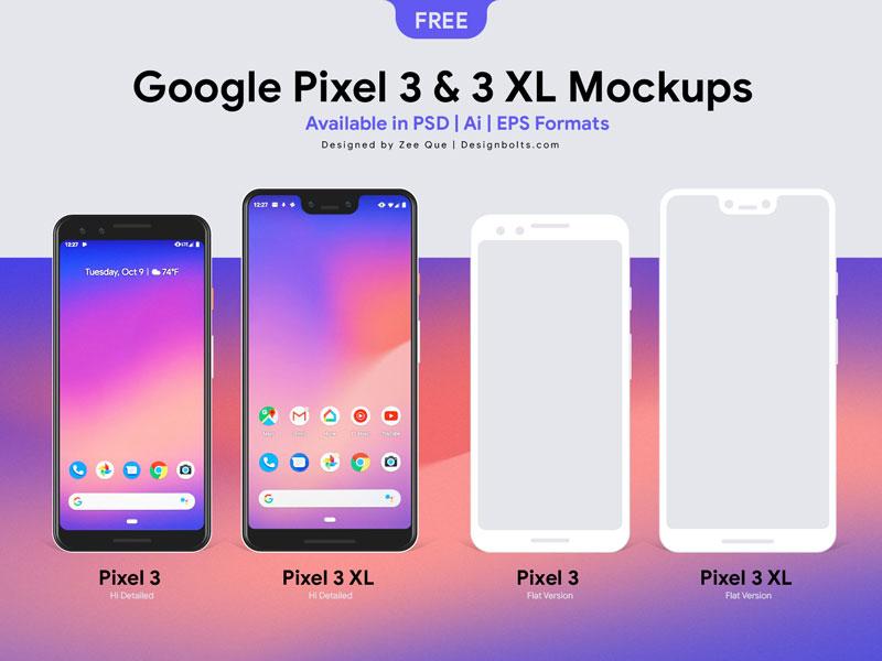 Free-Google-Pixel-3-&-Google-Pixel-3-XL-Mockup-PSD-Ai-EPS-01