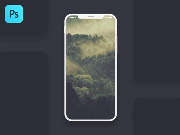 Free-Iphone-X-Screen-PSD-Mockup