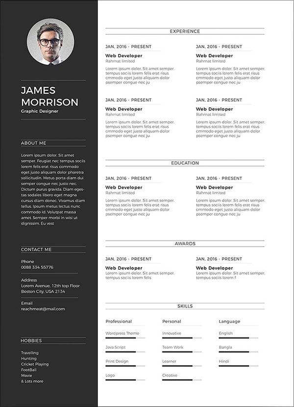 Free-Minimal-CV-Resume-Template-in-Word-Ai-PSD-4